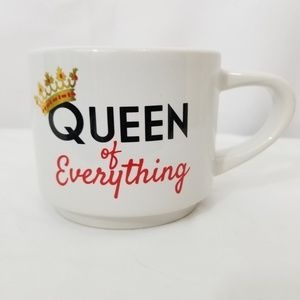Queen of Everything Coffee Mug Gold Crown